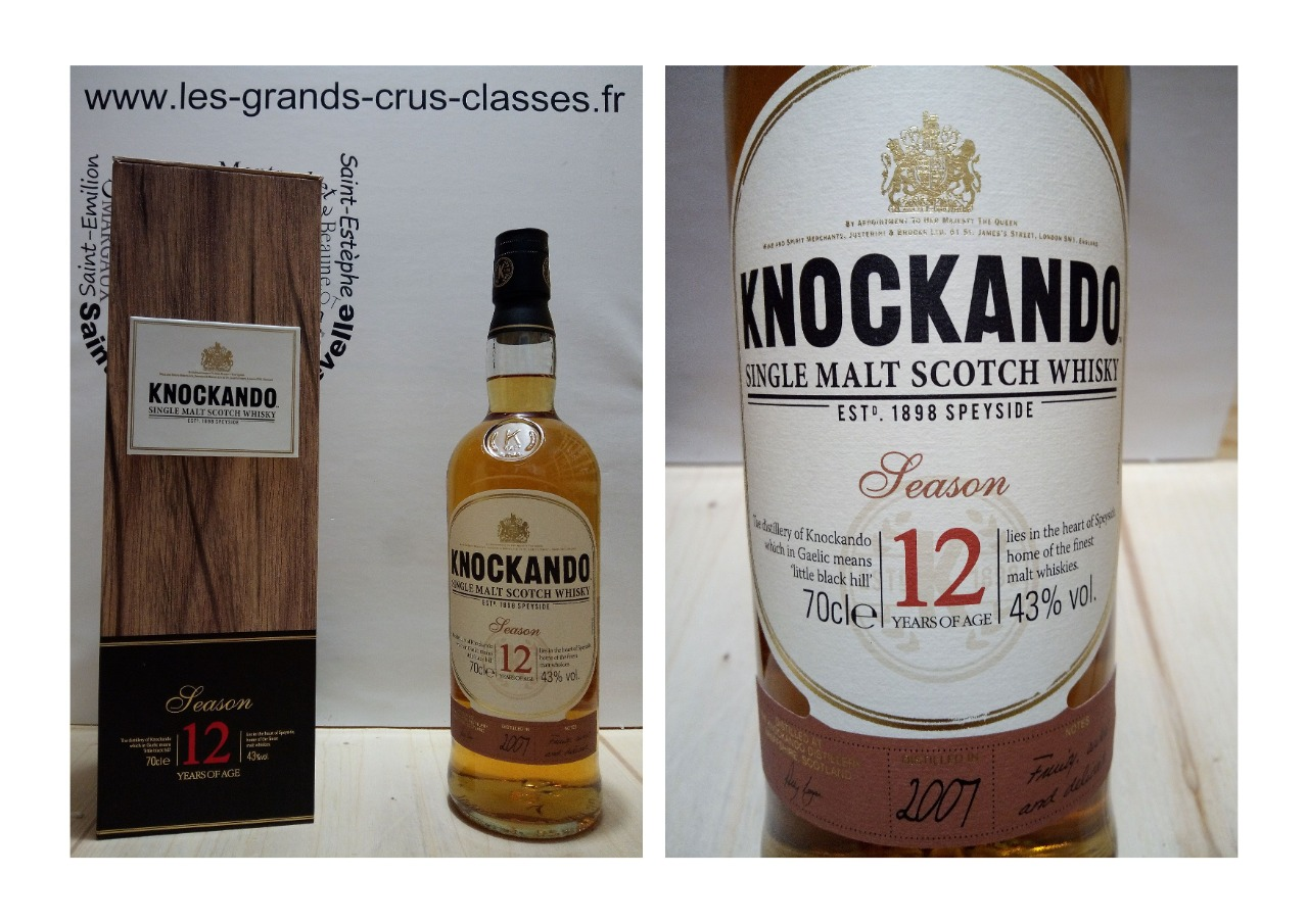 Knockando 12 ans, Season 43% - Single Malt